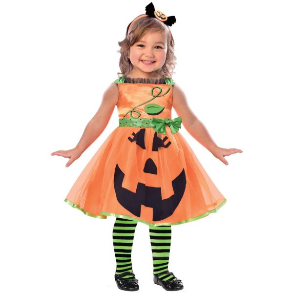 Cute Pumpkin Costume Toddlers Fancy Dress Outfit